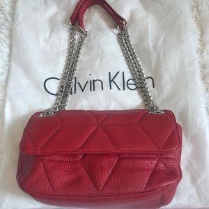 Calvin Klein Red Purse Crossbody or Shoulder
